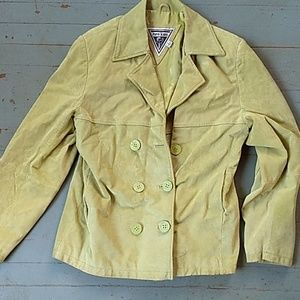 Marvin Richards green suede leather coat